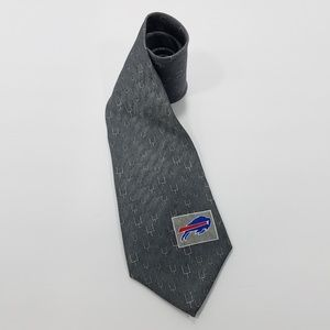 NFL Buffalo Bills Logo Uprights Gray Mens Tie